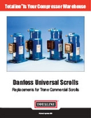 Compressors: Danfoss Commercial Scrolls for Trane R22